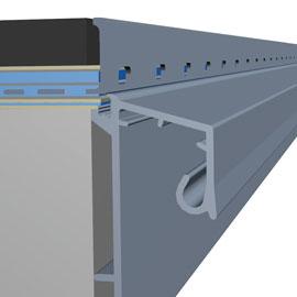 Seine große Flexibilität zeigt das pulverlackbeschichtete Profil BLANKE AF durch die Vielzahl an Ausführungsvarianten.
