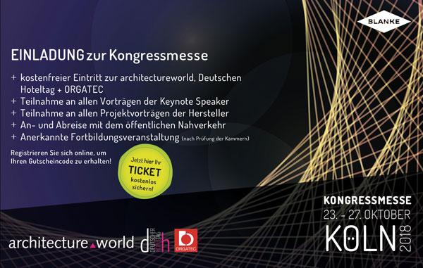 Einladung zur ORGATEC und zur architectureworld